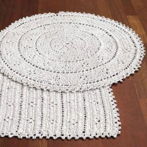 plastic crochet rug