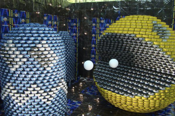 Canned Pac-Man sculpture