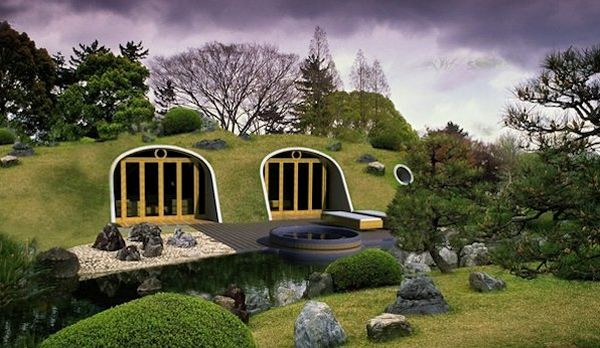 Earth sheltered house