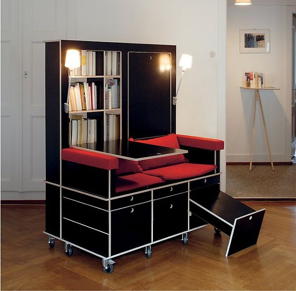 Chair and Bookcase Combination