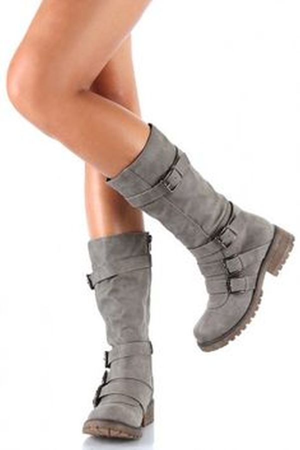 Buy boots with solid bottom treads