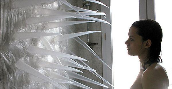 The Bizarre Spiky Shower Curtain