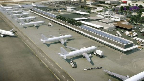 photovoltaic modules that line the Long Beach Airport