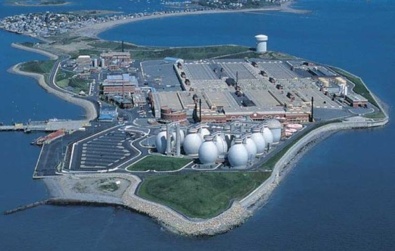 Deer Island Sewage Treatment Plant