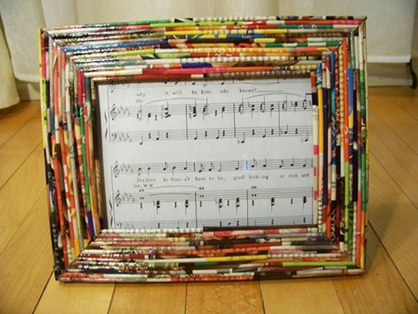 Recycled paper picture frames