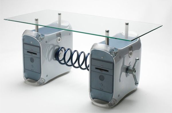 Recycled electronic furniture