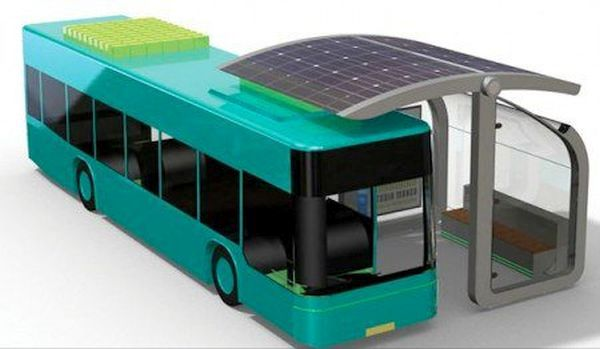 ATC Wireless Solar Charger Bus stop for E-Buses