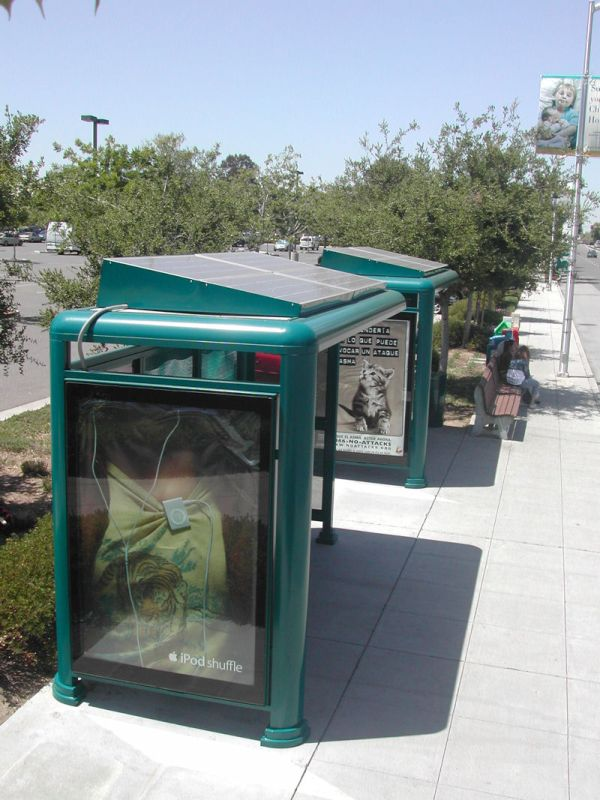 Solar Powered Bus Stops in California
