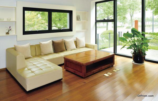 Living room, Garden