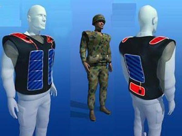 Self-charging clothing
