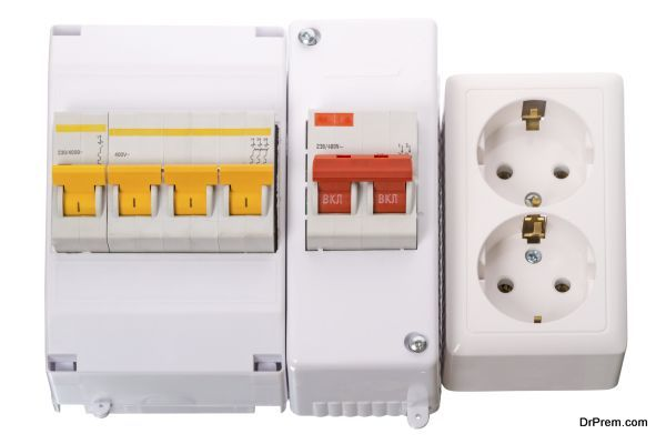 Circuit breakers and electrical outlet