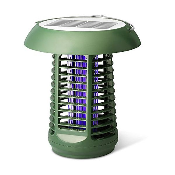 Solar Powered UV Bug Zapper & LED Garden Lamp