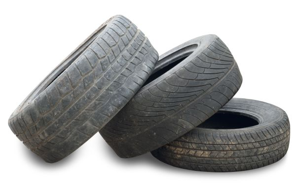 Used Tire isolated on white background