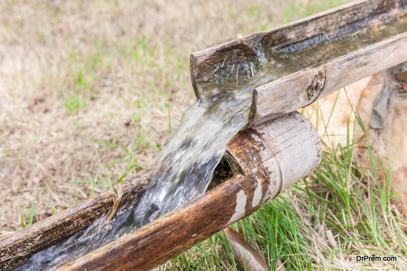 Bamboo drip irrigation