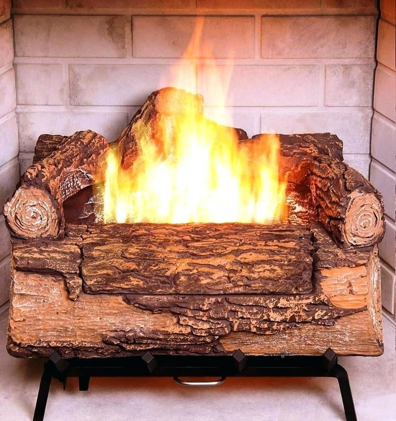 artificial wooden fire logs