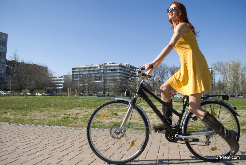 Cycling rather than driving your car to office