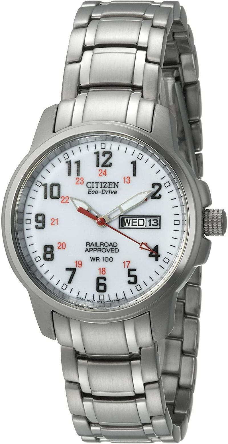 Citizen Men's BM8180-54A Eco-Drive Railroad Watch in Stainless Steel