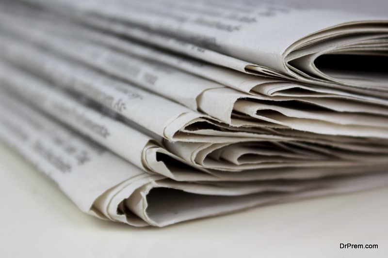 newspaper can be turned back to wood.