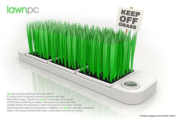 Lawn PC is a green computing concept