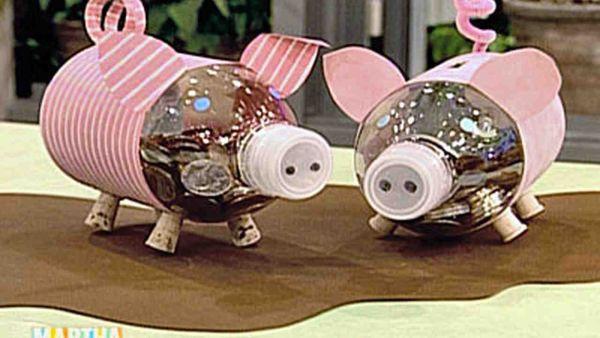 Homemade Plastic Piggy Bank
