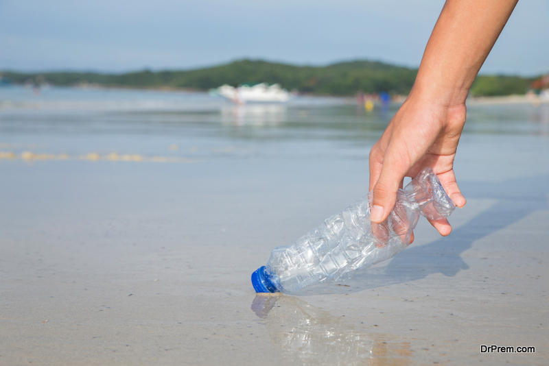 removing plastic bottle