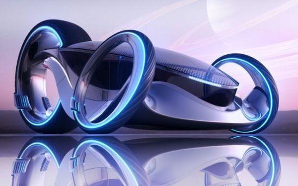 Evo5 futuristic sports car