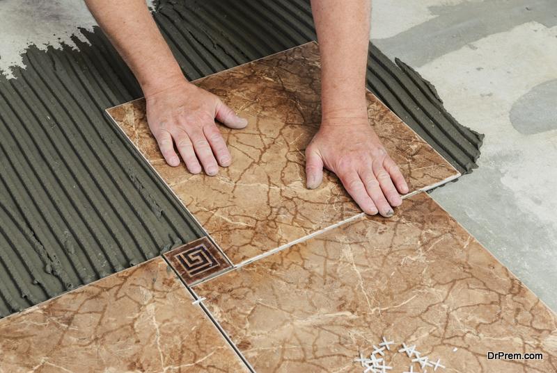 Install Ceramic Tile Floor