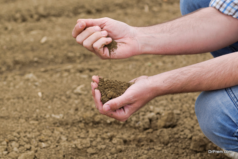 soil gets parched and drought prevails