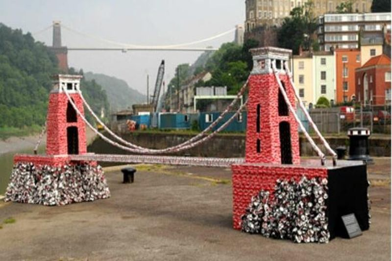 Clifton suspension bridge by artist Stuart Murdoch