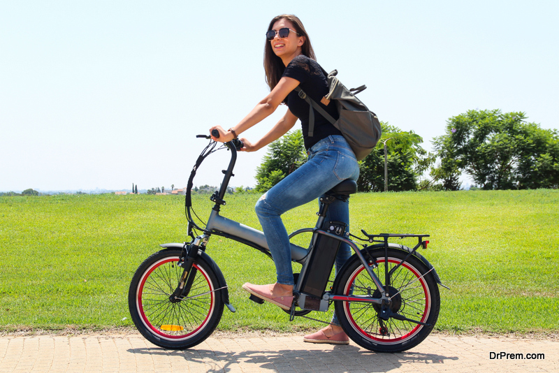 Riding an E-bike