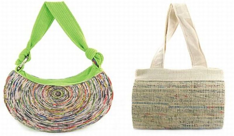 Eco-hip recycled newspaper bag