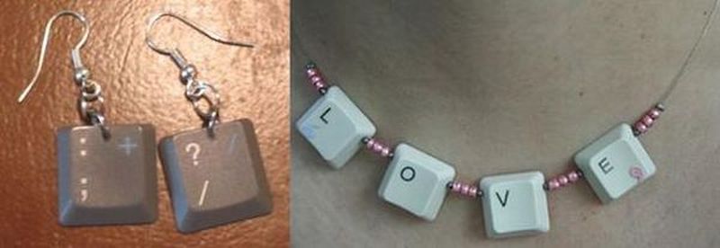 Keyboard jewelry