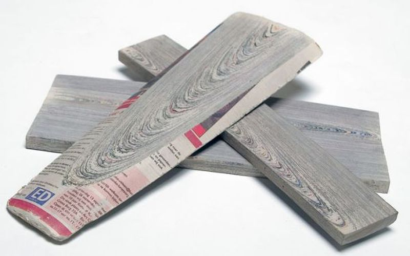 Newspaper wood by Dutch designer