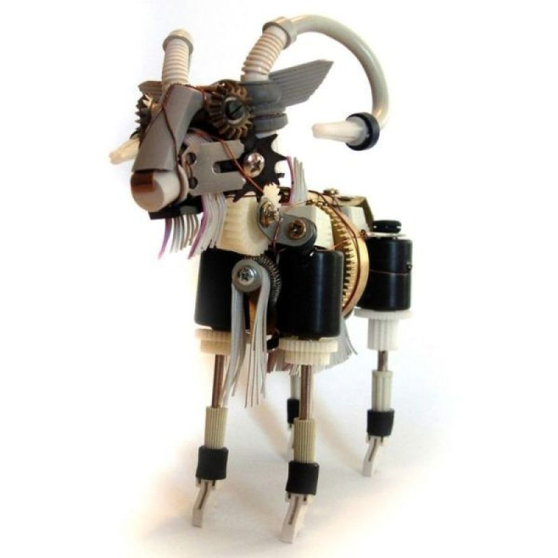Recycled Geeky Art Sculptures