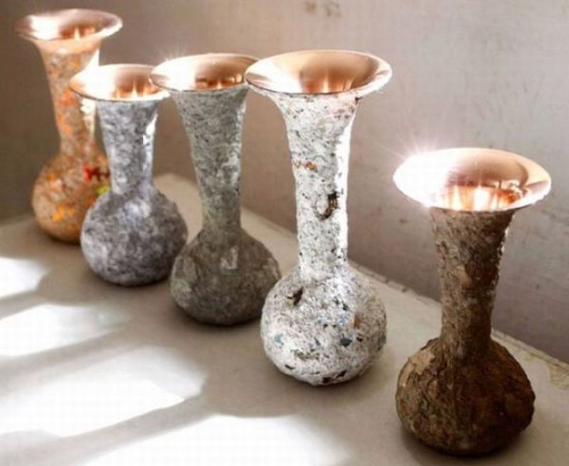Traditional copper vases
