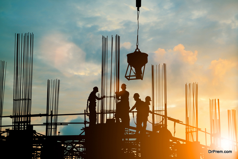constructing a hospital