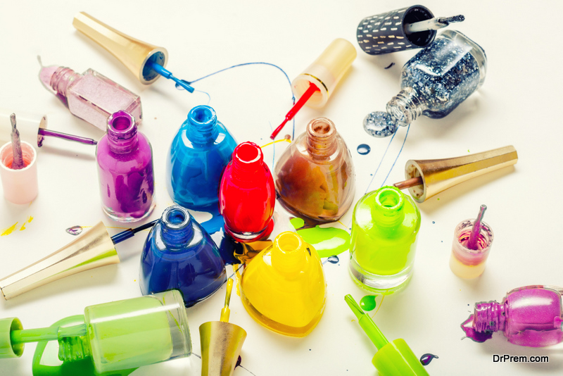 Nail varnish bottles