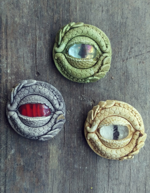 Dragon Eye Colors : dragon, colors, Dragon, Brooch, Assorted, Colors, Diameter