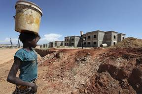Angola construction site