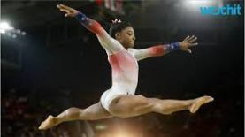 Simone Biles doing gymnastics