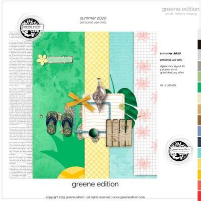 summer 2020, summer, greene edition