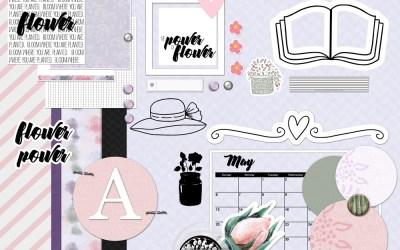 Flower Power Free Page Layout Kit