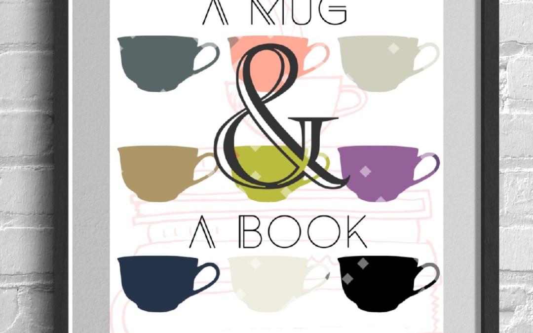 Free Digital Scrapbooking Kit: A Mug and A Book