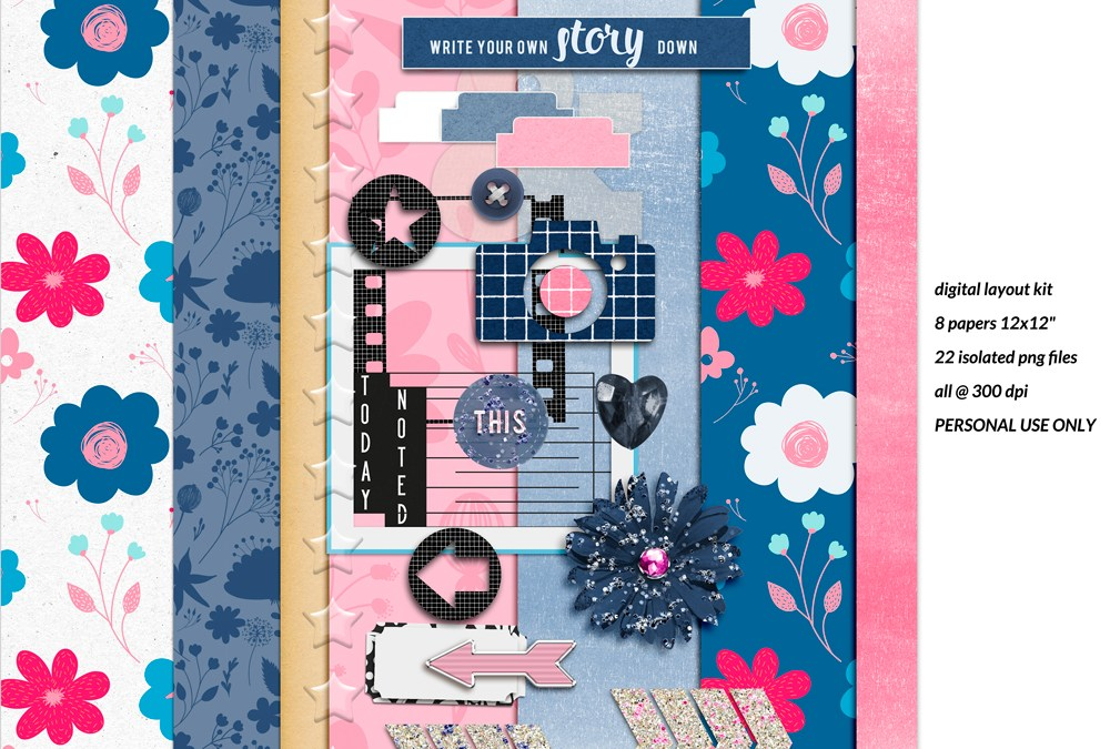 March 2021 New Free Page Layout Kit