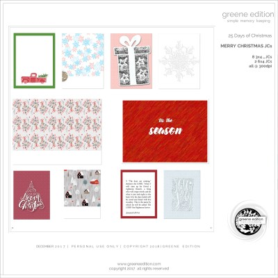 gree edition - freebie- pocket cards -25 Days of Christmas Freebie - Merry Christmas JC's