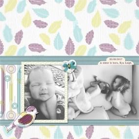 kya-leigh-layout-simple-greene-edition-leaves-bird-boy-hearts-stripes-baby-green-blue-purple-white