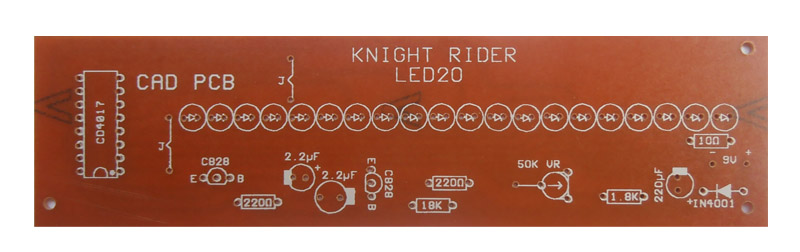 Led Knight Rider Running Light Circuit Diagram 4017 Led Knight Rider