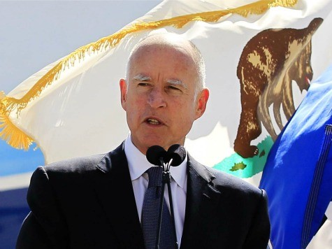 Jerry Brown California water conservation