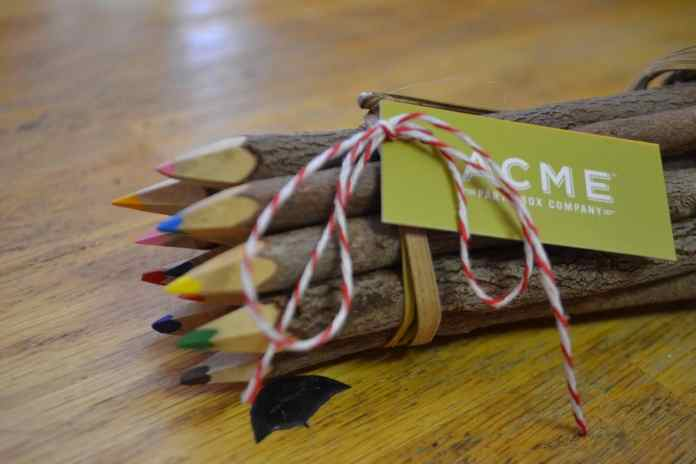 wooden tree pencils in eco friendly workplace