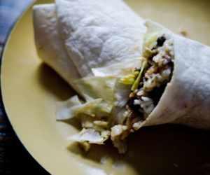 Vegetarian Chipotle Gallo Pinto Wrap